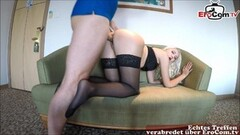 Naughty Blonde MILF takes the cock from Xander up her muff Thumb