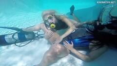 Wet Vodichkina and Farkas underwater hot lesbians Thumb