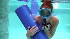 Cute Minnie Manga blows dildo underwater Thumb