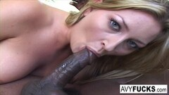 Blonde Alix Lynx with a big cock inside her Thumb