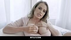 Cute Blonde Milf Rubs Her Wet Taint Thumb