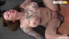 Sexy Tattooed Busty Amateur Having Shower Sex Thumb