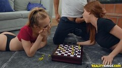 Innocent chess game between sexy Pepper and Lana gets frisky Thumb