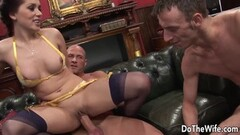 Kinky Wife Karia Kare Plowed in Front of Hubby Thumb