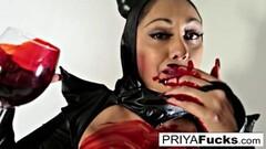Sexy Halloween tease with busty Indian MILF Priya Rai Thumb
