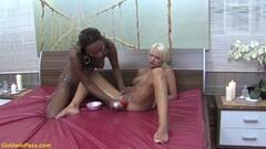 Hot lesbian interracial nuru massage Thumb