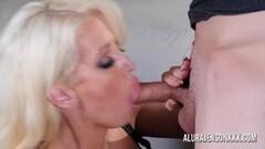 Busty Alura Jenson sucking and tit fucking a big cock Thumb