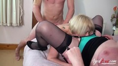 Horny blonde sucking cock outdoors Thumb