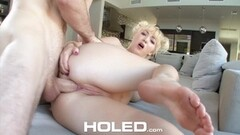 Hottie Cindy Works Her Shaved Pussy Thumb