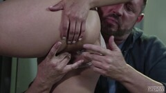 wife gives prostate massage and gets cumshot- Thumb