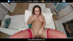 Extra Small Teen Babe Wets Big Cock In Her Mouth & Pussy Thumb