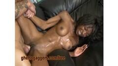 Naughty Grandma with glasses masturbates and sucks cock! Thumb