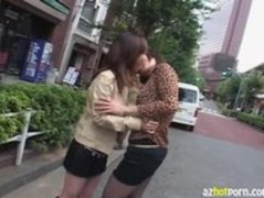 AzHotPorn.com - Afflicted Feeling Tongue Lesbian Kissing Thumb