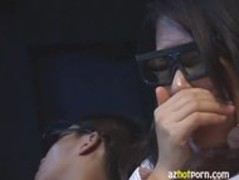AzHotPorn.com - Public Sex Inside 3D Cinema Thumb