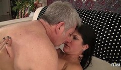 Long hair brunette MILF gets fucked by a big cock Thumb