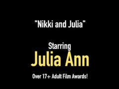 Milf Of The Year Julia Ann Pussy Fucks With Nikki Hunter! Thumb