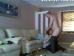 Spy footage my Mum with lover in living room Thumb