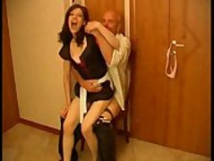 Seductive Brunette Maid Gets Rammed By Old Fart Thumb