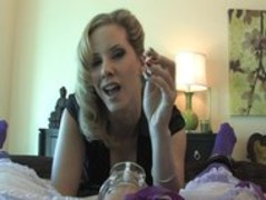 Mistress Madeline Unlock Sissy's Clit & Plays Thumb