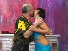 Hot Latina gets prodded in all holes by Older Guy Thumb