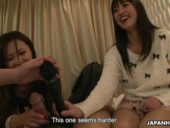 Japanese reporter, Asakura Kotomi and her friends suck cock, uncensored Thumb