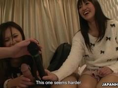 Japanese reporter, Asakura Kotomi and her friends suck cock, uncensored Thumb