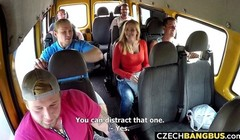 Married Busty MILF GangBanged in Public Bus Thumb