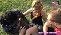 german amateur redhead teen outdoor threesome mmf Thumb