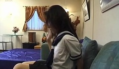 Azusa Miyanaga in school uniform sucks More at hotajp com Thumb