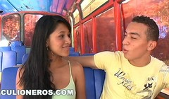 CULIONEROS - Young Colombian Babe Boards A Bus & Gets Fucked Thumb