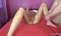 German Glasses Tattoo Teen Jasmin at Porn Casting for Cash Thumb