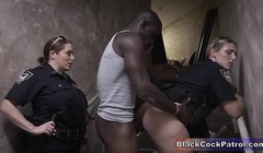 Arrested Black Dude Made To Fuck Horny White Female Cops Thumb