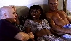 Interracial Ebony 3some With Swinger Housewife Thumb