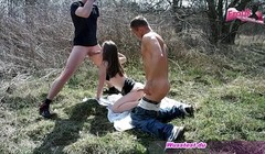 german skinny teen outdoor threesome mmf first time Thumb