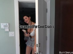 Butt3rflyforu Gets A Huge Creampie From Professor For Good Grades Thumb