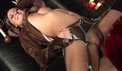 Horny babe in costume fucked hard and squirt Thumb