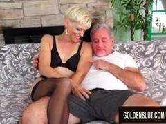 Smoking Hot Blonde Mature Erica Ryko Deepthroats and Rides Thumb