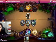 NovaPatra forgets her twitch stream is on and faps Thumb