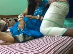 Blue Saree Stepsister In Law Hard Fucking With Dirty Hindi Audio Thumb