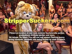 Shameful Scenes Of Sneaky Sluts Sucking & Fucking At CFNM Stripper Event Thumb
