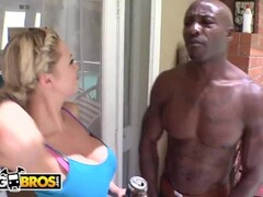 BANGBROS - Blonde Babe Katie Kox Taking BBC From Wesley Pipes Thumb