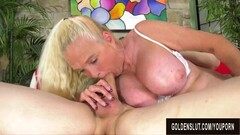 Cock Hungry Blonde GILF Sara Skippers Rides a Younger Man Thumb