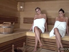 Vivian Blush - Sauna w two Busty Beauties Thumb